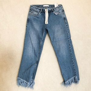 Zara O-Ring Straight Leg jeans